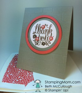 StampinUp thank you card made with the A Whole Lot of Lovely stamp set.  Please see more card and gift ideas at www.StampingMom.com #StampingMom