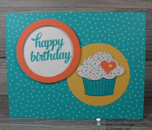 StampinUp Birthday card made with the Sprinkles of Life stamp set, created by demo Beth McCullough.  Please see more card and gift ideas at www.Stampingmom.com #StampingMom