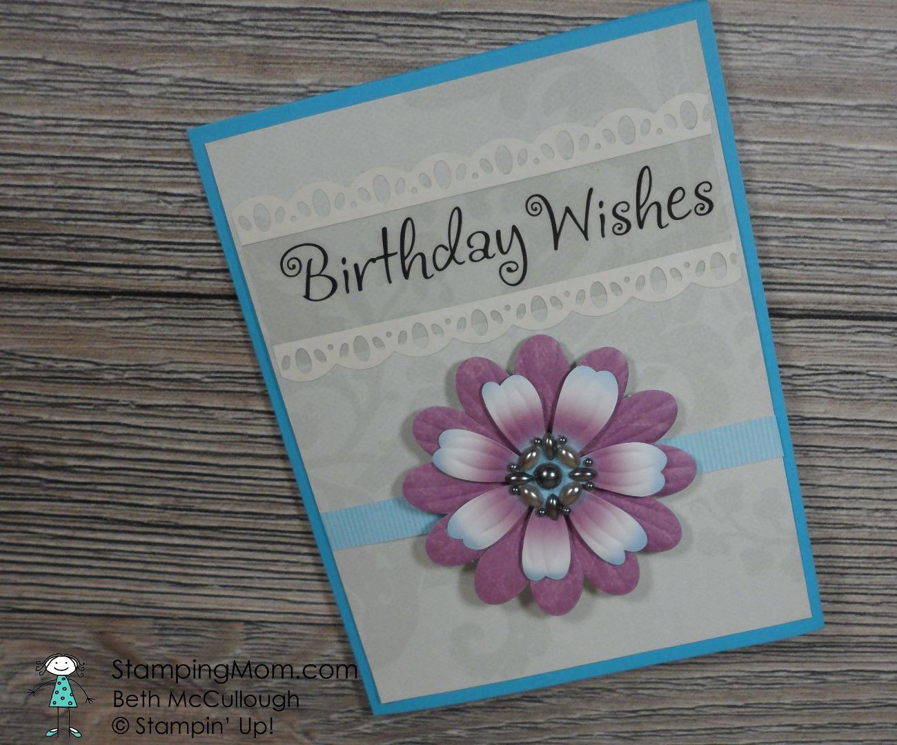 My homemade birthday cards – Stamping Mom