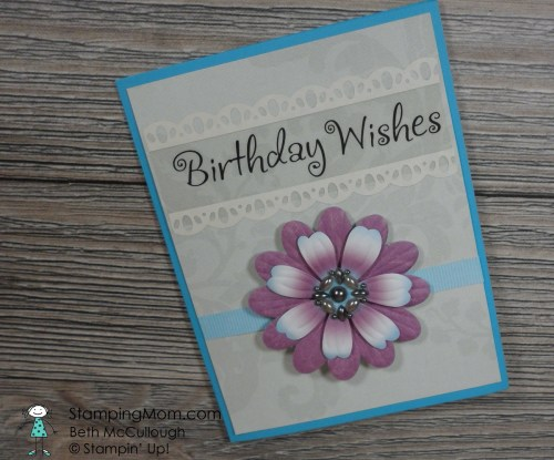 StampinUp birthday card made with Botanical Builder Framelits by my friend Crystal Tommingo.  Please see more card and gift ideas at www.StampingMom.com #StampingMom