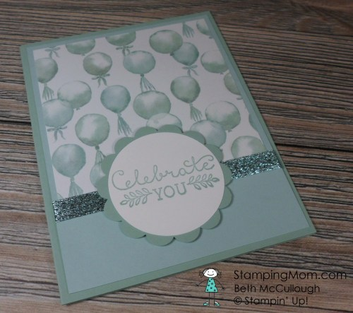 StampinUp birthday card made  by Kimberly.  Please see more card and gift ideas at www.StampingMom.com #StampingMom