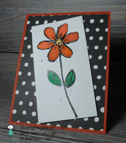 StampinUp All Occasion card made with the Garden in Bloom stamp set, designed by demo Beth McCullough. See more card and gift ideas at www.Stampingmom.com #StampingMom