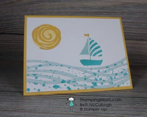 StampinUp Swirly Bird and Swirly Scribbles Thinlits Dies CAS card designed by demo Beth McCullough. See more card and gift ideas at www.StampingMom.com #StampingMom PalsPaperArts Pick Of The Week