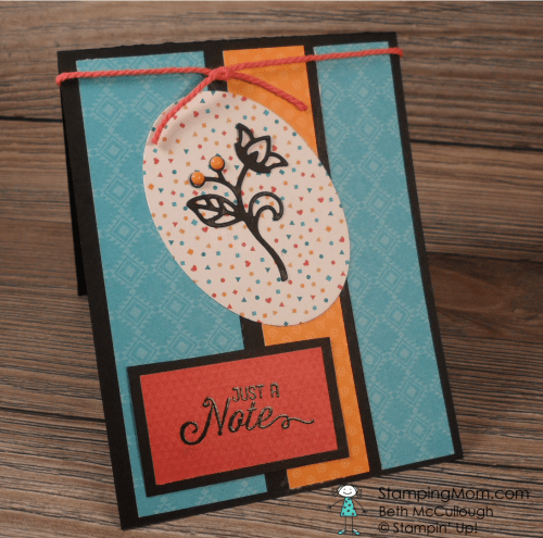 StampinUp Flourishing Phrases card designed by demo Beth McCullough. Please see more card and gift ideas at www.StampingMom.com #StampingMom