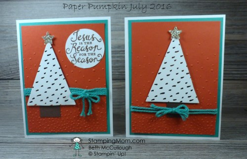 StampinUp Paper Pumpkin Alternative - July 2016 made by demo Beth McCullough. Please see more card and gift ideas at www.StampingMom.com #StampingMom
