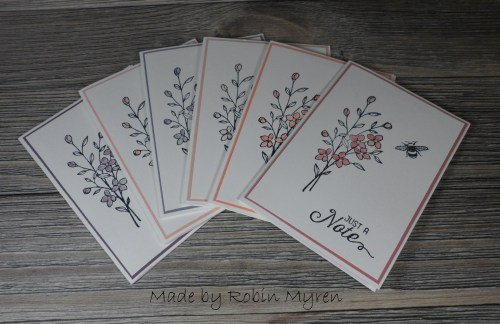 StampinUp Touches of Texture notecards designed by Robin. See more card and gift ideas at www.StampingMom.com #StampingMom