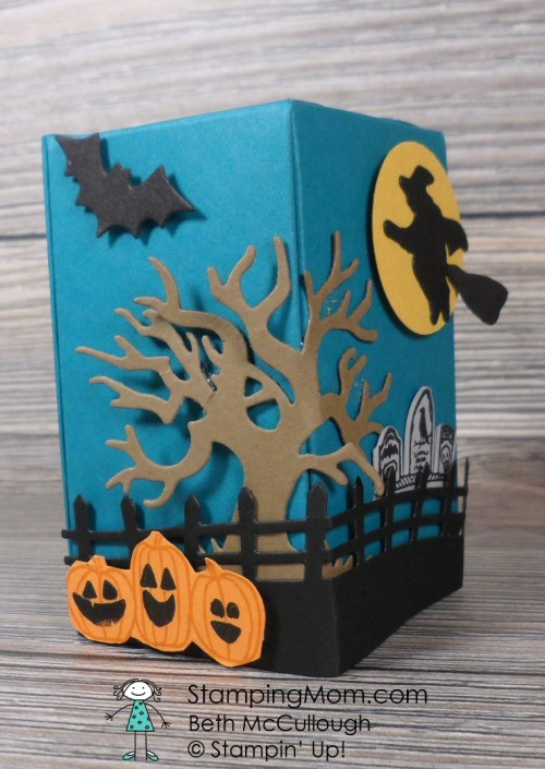 Stampin' Up! Reese's Peanut Butter Pumpkin Boxes designed by demo Beth McCullough. Please see more card and gift ideas at www.StampingMom.com #StampingMom #cute&simple4u