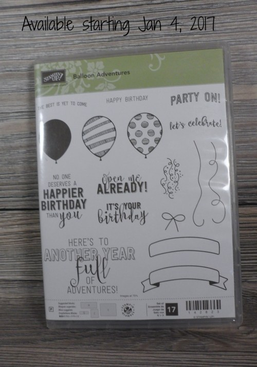 Stampin Up Balloon Adventures stamp set available starting Jan. 4, 2017. If you want to purchase it sooner, please contact me at Beth@StampingMom.com Please see card and gift samples at www.StampingMom.com #StampingMom #cute&simple4u