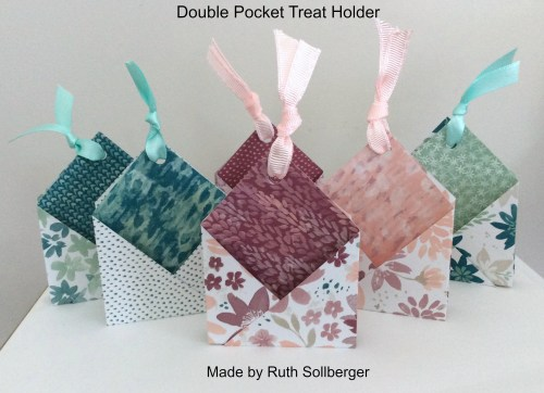 Stampin' Up! Double Pocket Treat Holder made by Ruth Sollberger. Please see more card and gift ideas at www.StampingMom.com #StampingMom #cute&simple4u