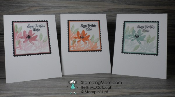 Stampin Up Avant Garden 2017 SAB set makes a CAS set of cards with matching box for gift giving designed by demo Beth McCullough. Please see more card and gift ideas at www.StampingMom.com #StampingMom #cute&simple4u