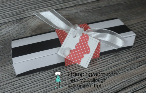 Kate Spade style Easter Bunny 5 Nugget Box made with Stampin' Up Basket Builder Framelits Dies designed by demo Beth McCullough. Please see more card and gift ideas at www.StampingMom #StampingMom #cute&simple4u