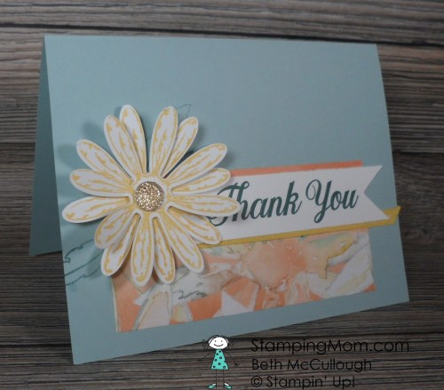 Stampin Up Daisy Delight Stamp set and new Daisy punch Thank you card. Please see more card and gift ideas at www.StampingMom.com #StampingMom #cute&simple4u