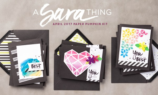 Paper Pumpkin kit April 2017. Please see card and gift ideas at www.StampingMom.com #StampingMom #cute&simple4u