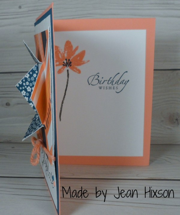 Stampin Up Birthday card made by Jean Hixson. See more card and gift ideas at www.StampingMom.com #StampingMom #cute&simple4u
