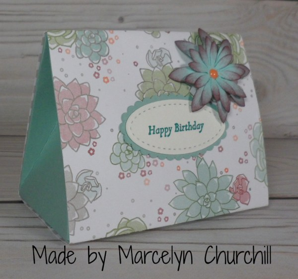 Stampin Up Birthday Box made by Marcelyn Churchill. More card and gift ideas at www.StampingMom.com #StampingMom #cute&simple4u