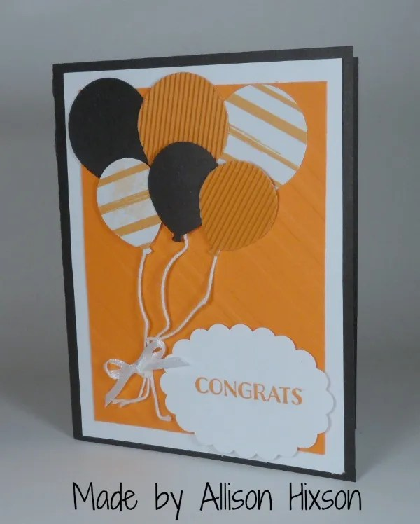 Stampin Up Graduation card made by Allison Hixson. Please see more card and gift ideas at www.StampingMom.com #StampingMom #cute&simple4u