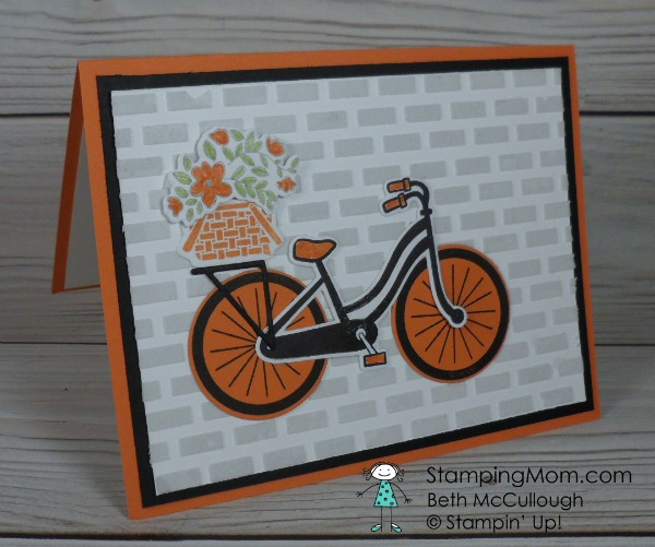Stampin' Up Bike Ride thank you cards designed by demo Beth McCullough. Please see more card and gift ideas at www.StampingMom.com #StampingMom #cute&simple4u