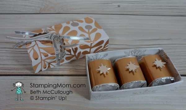 Stampin Up Year of Cheer 3 Nugget Box designed by demo Beth McCullough. Please see more card and gift ideas at www.StampingMom.com #StampingMom #cute&simple4u