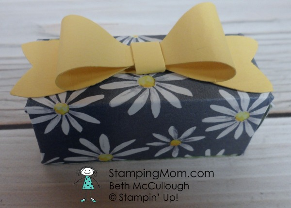 Stampin Up Delightful Daisy DSP box designed by demo Beth McCullough. Please see more card and gift ideas at www.StampingMom.com #StampingMom #cute&simple4u