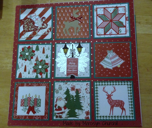 Stampin Up Christmas Sampler made by Marcelyn Churchill. See more projects made by Marcelyn on Mondays at www.StampingMom.com #StampingMom #cute& simple4u