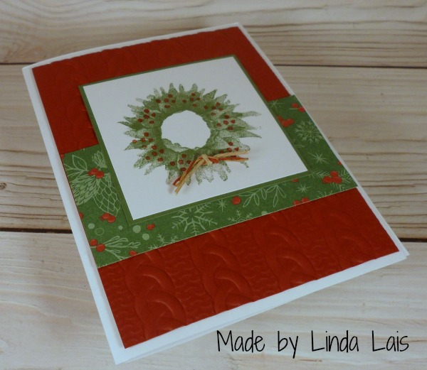 Stampin Up Christmas card made by Linda Lais. Please see more card and gift ideas at www.StampingMom.com #StampingMom #cute&simple4u