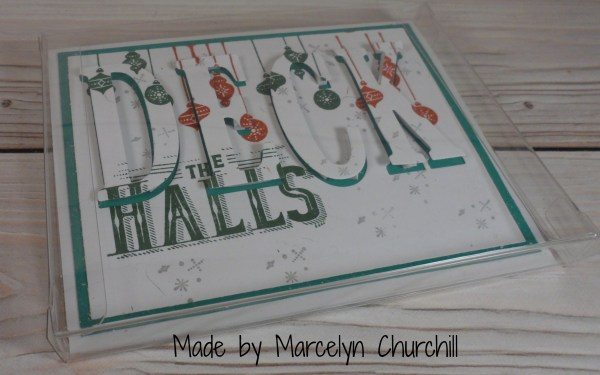 Stampin UP Christmas card using the Eclipse technique made by Marcelyn Churchill. Please see more card and gift ideas at www.StampingMom.com #StampingMom #cute&simple4