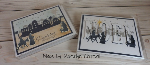 Stampin Up Night in Bethlehem set and the Eclipse technique made by Marcelyn Churchill. Please see more card and gift ideas at www.StampingMom.com #StampingMom #cute&simple4