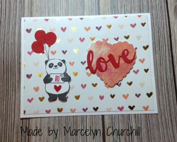 Valentine Party Pandas made by demo Marcelyn Churchill. Please see more card and gift ideas at www.StampingMom.com #StampingMom #cute&simple4u