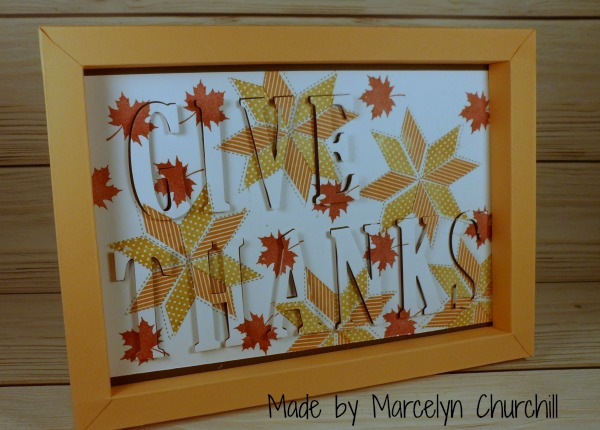 Stampin UP Give Thanks Eclipse frame made by Marcelyn Churchill. Please see more card and gift ideas at www.StampingMom.com #StampingMom #cute&simple4u