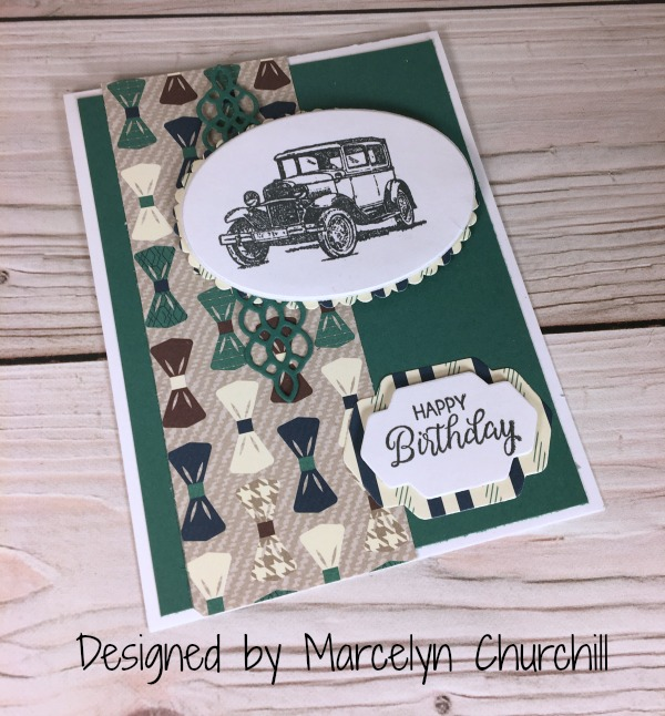 Stampin Up True Gentleman Suite card designed by demo Marcelyn Churchill. Please see more card and gift ideas at www.StampingMom.com #StampingMom #cute&simple4u
