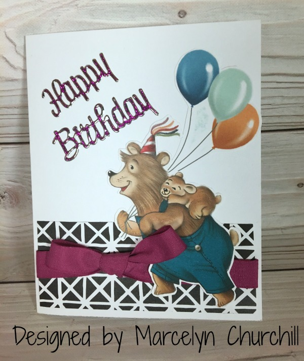 Stampin Up Birthday Memories card designed by demo Marcelyn Churchill. Please see more card and gift ideas at www.StampingMom.com #StampingMom #cute&simple4u