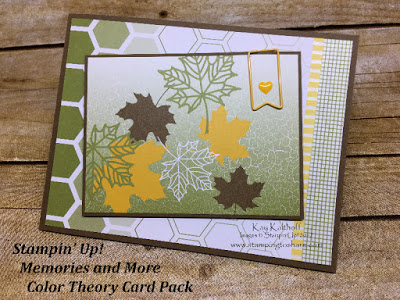 Stampin' Up! Memories and More Color Theory Card Pack. Fall Card created by Kay Kalthoff with Stamping to Share.