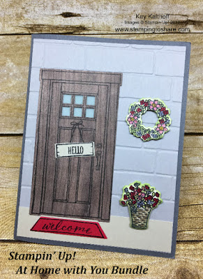 Stampin' Up! At Home with You Bundle for Seasonal Front Door Cards by Kay Kalthoff with Stamping to Share.
