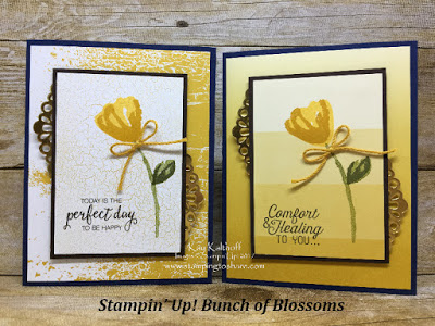 Stampin' Up! Bunch of Blossoms with Color Theory Designer Paper created by Kay Kalthoff with Stamping to Share.