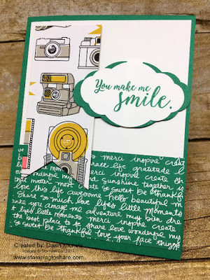 Stampin' Up! Pick a Pattern Designer Series Paper. Card created by Dawn Michels for Stamping to Share July Meeting Swap.