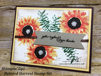 Stampin' Up! Painted Harvest Stamp Set Thanksgiving card created by Kay Kalthoff with Stamping to Share.