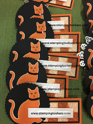 Stamping to Share Fall Flair Nametags created by Kim Lundstrom with Spooky Night Designer Series Paper.
