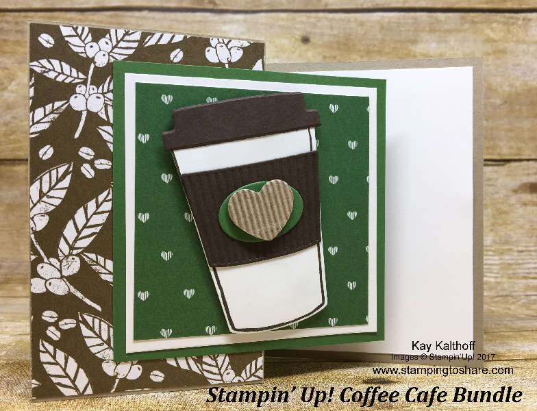 How to Create a Coffee Cafe Z-Fold Card with How To Video