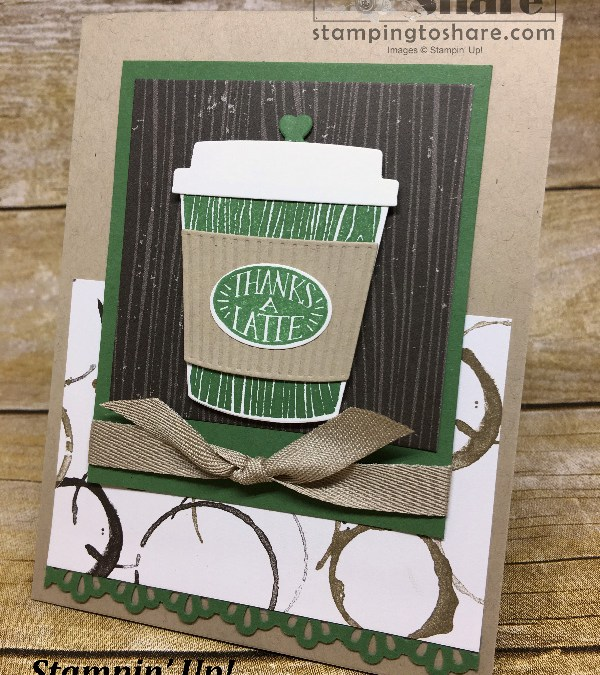 How to Make an Easy, Elegant Coffee Cafe Bundle Card with How To Video