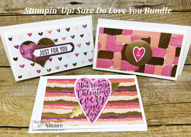 Fab Friday Facebook Live with Kay Kalthoff using the Sure Do Love You Bundle to make a box with coordinating Valentine Cards. #stampingtoshare