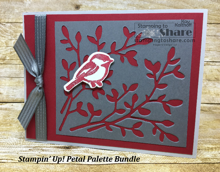 How to Use Scraps to Make a Pretty Petal Palette Bundle Card