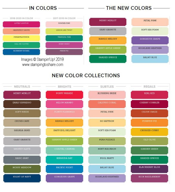 color Revamp at Stampin' Up! Kay Kalthoff at #stampingtoshare