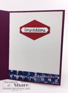 Stampin' Up! Hand Delivered Graduation Card inside panel created by Kay Kalthoff for #stampingtoshare