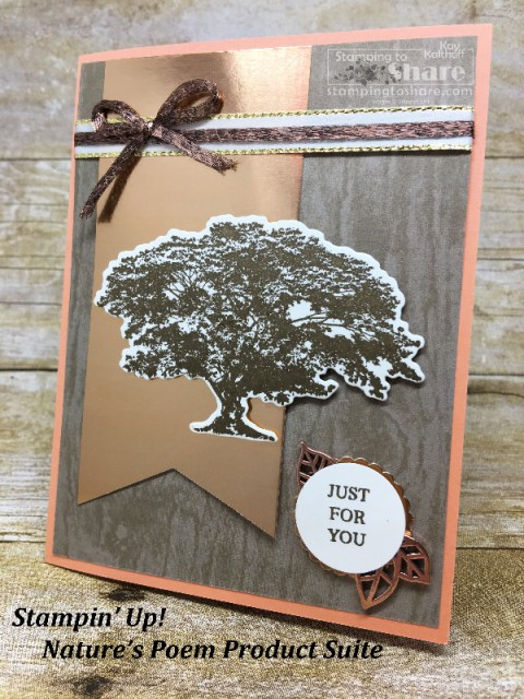 How to Use Stampin' Up! Rooted in Nature with Copper Accents created by Kay Kalthoff with #stampingtoshare