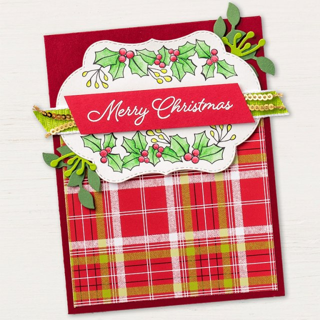 Blended SEason Bundle Christmas Card created by Stampin' Up! Kay Kalthoff #stampingtoshare