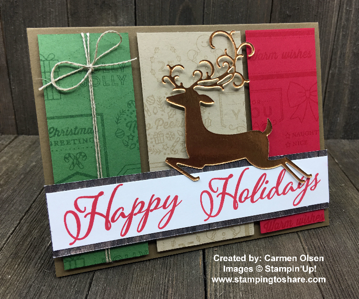 Stampin' Up! Merry Christmas to All created by Carmen Olsen for Demo Meeting Swap for #stampingtoshare