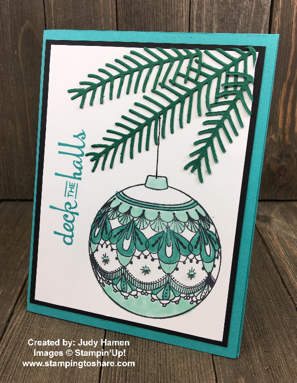 Stampin' Up! Beautiful Baubles created by Judy Hamen for Demo Meeting Swap for #stampingtoshare