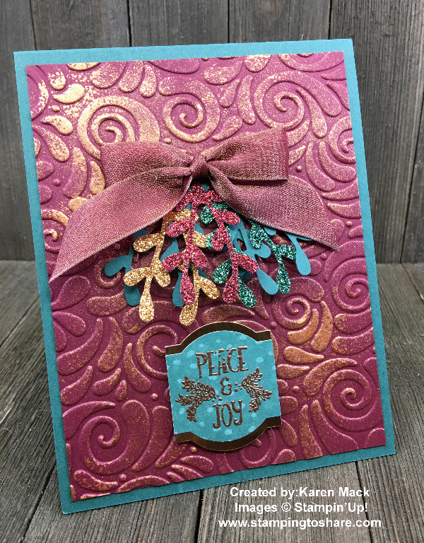 Stampin' Up! Christmas Traditions Punch Box created by Karen Mack for Demo Meeting Swap for #stampingtoshare