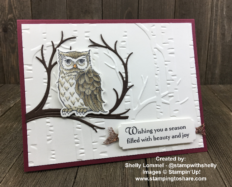 Stampin' Up! Still Night by Shelly Lommel for Demo Meeting Swap for #stampingtoshare