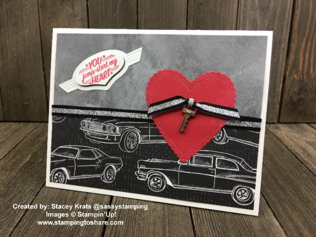 Classic Garage Bundle with Be Mine Stitched Framelits created by Stacey Krats for Demo Meeting Swap with #stampingtoshare